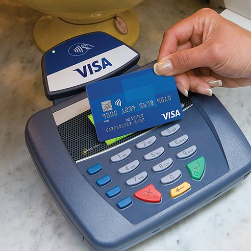 Visa card using paywave